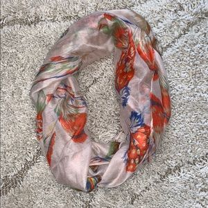 Accessories - Feather print infinity scarf